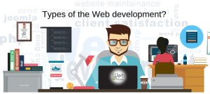 What are the types of Web development