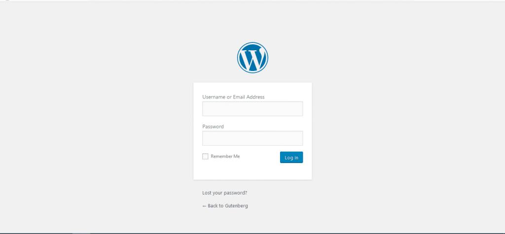 Login WordPress dashboard