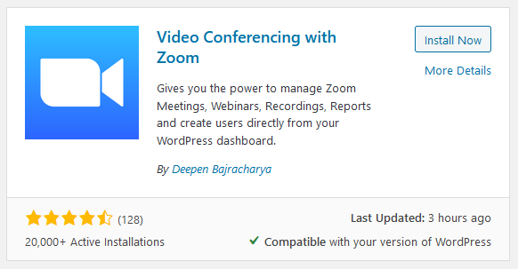 Connecting website with Zoom