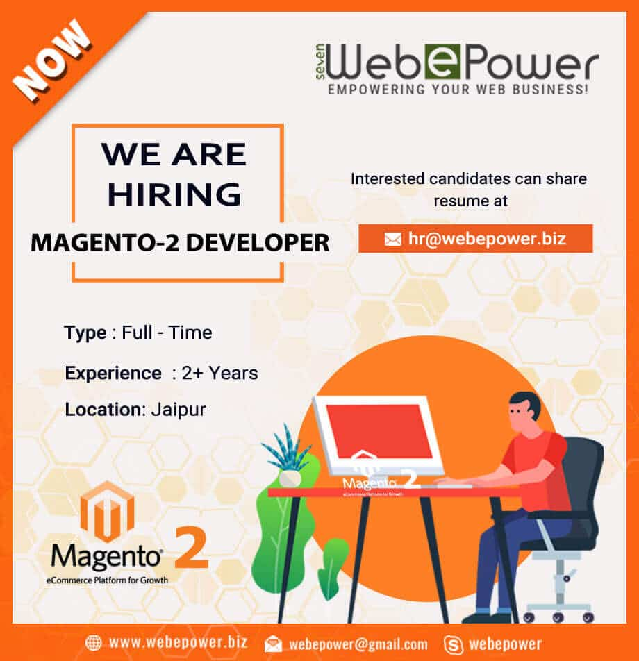 Magento 2 developer at Jaipur location